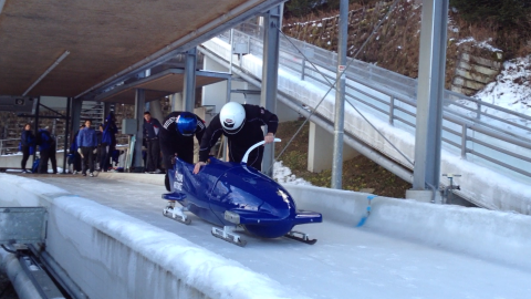 My time in Austria Bobsleighing.